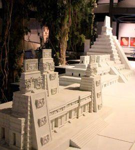 Maqueta Tikal museo de la cultura maya Chetumal Quintana roo