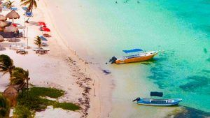 playa mahahual quintana roo vista aerea
