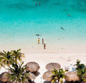 playa mahahual vista aerea quintana roo