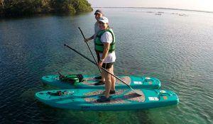 paddle board laguna de bacalar