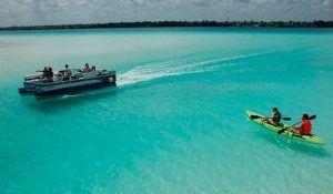 paseo en kayak laguna de bacalar
